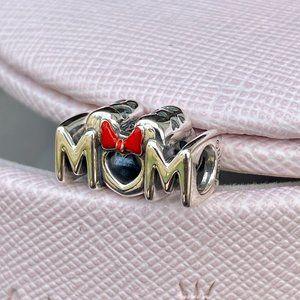 PANDORA Disney Minnie Mouse Bow & Mum Charm
